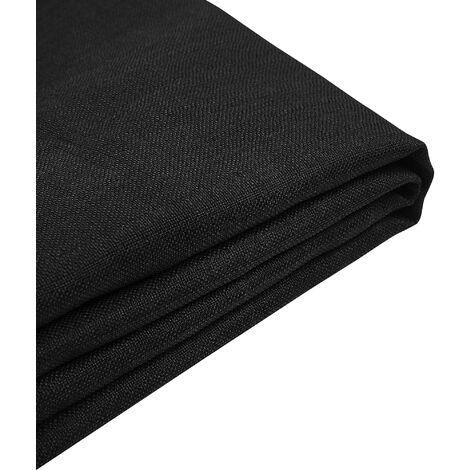 Forro de tela negra para la cama 180x200 cm FITOU