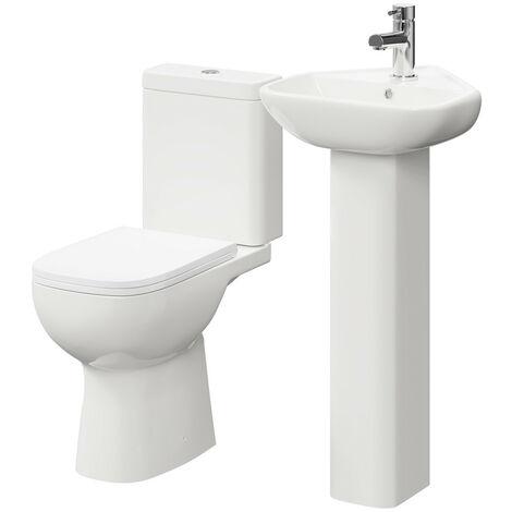 Forth Corner Full Pedestal Basin & Toilet Suite