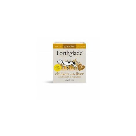 Forthglade Complete Grain Free Adult Chicken Liver Sweet P - 395g - 608965