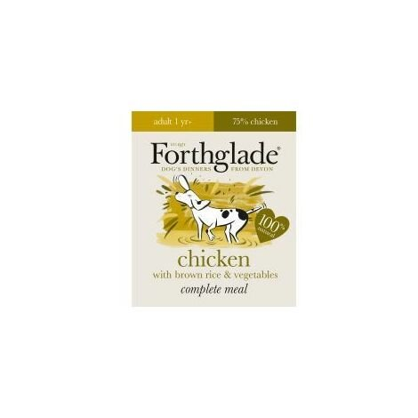 Forthglade Complete Meal Adult Chicken with Brown Rice & Veg (569021)