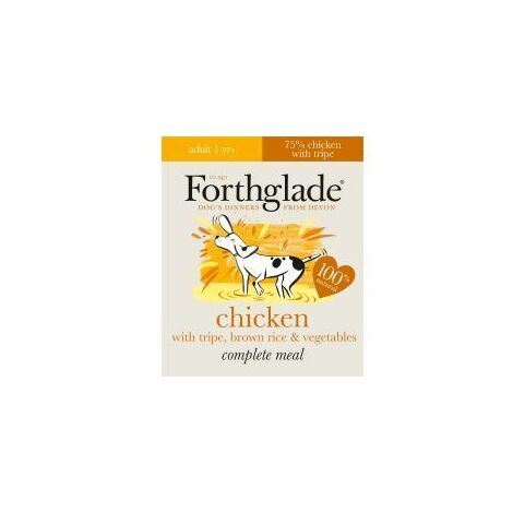 Forthglade Complete Meal Adult Chicken with Tripe Brown Ric (55984)
