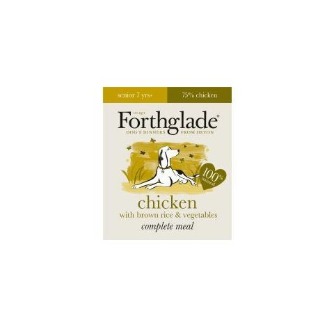 Forthglade Complete Meal Senior Chicken with Brown Rice & Ve (538275)