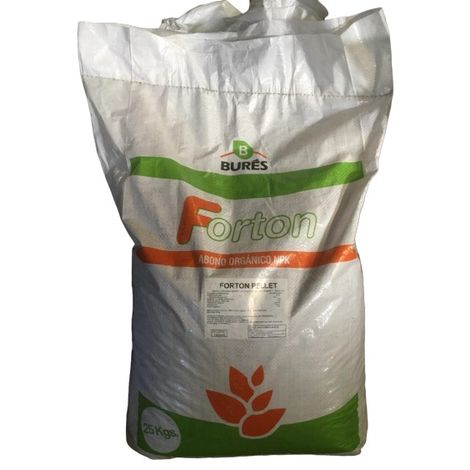 Forton Pellets Abono Orgánico y Vegetal NPK 1,5-2-2 - Saco 25 kg