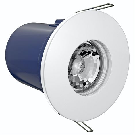 Forum IP65 fire rated shower light in white