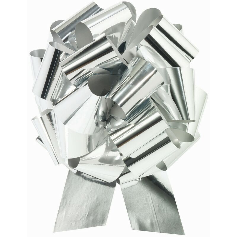 Image of Forum Novelties Metallic Pull Bow (One Size) (Metallic Silver)