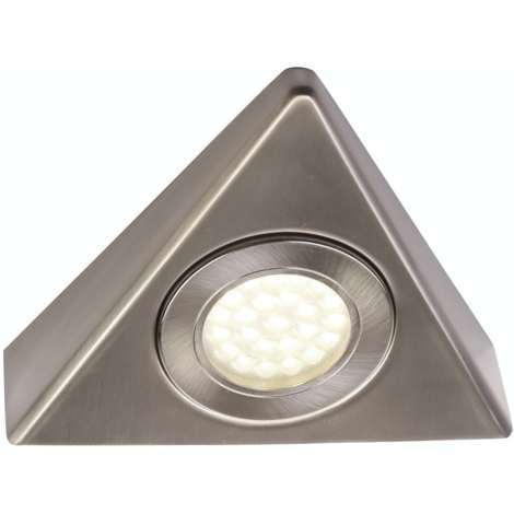 Forum Zia 1.5w cool white LED satin nickel under cabinet light