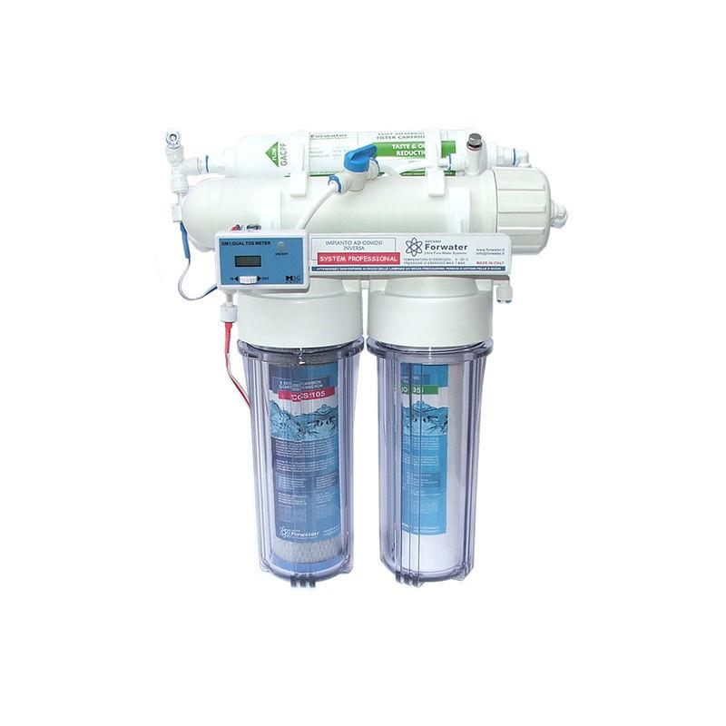 SYSTEM250 PRO08 Sistema ad osmosi inversa per la produzione di acqua prefiltrata, acqua di osmosi e acqua