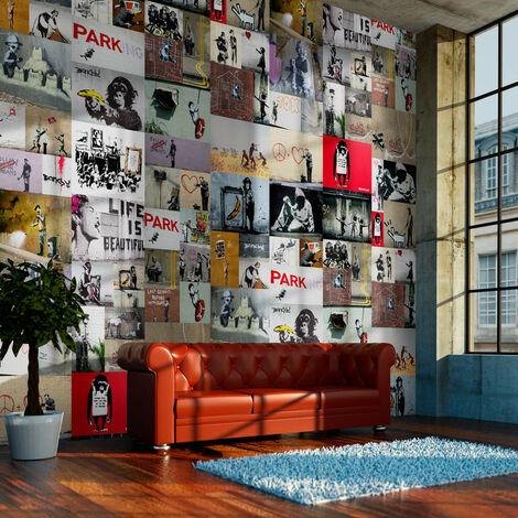 Fotomural - Banksy - collage -