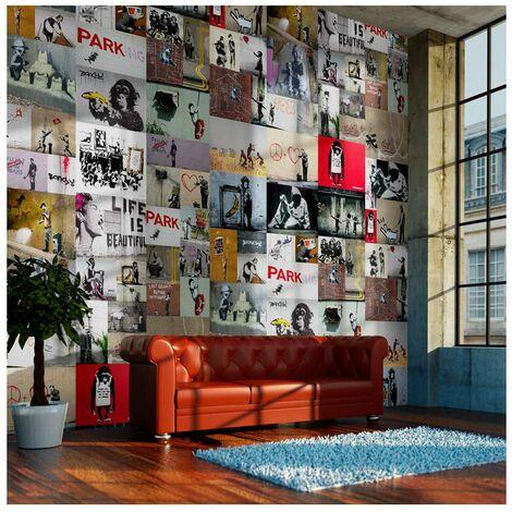 Fotomural - Banksy - collage tamaño 50x1000