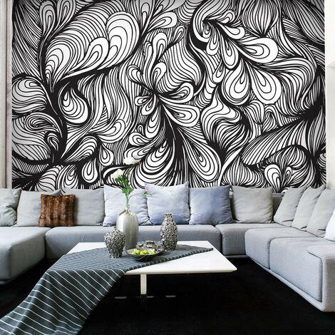 Fotomural - Blanco y negro en estilo retro
