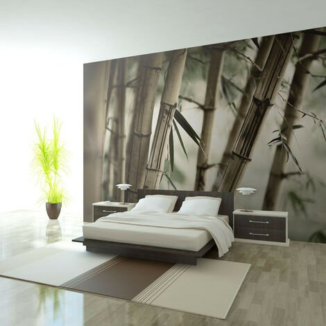 Fotomural - Fog and bamboo forest -