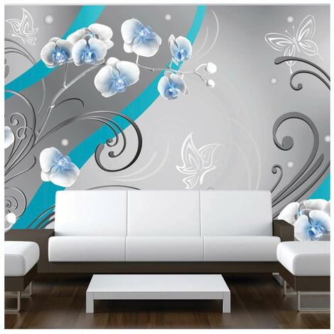 Fotomural - Orquídeas azules - variación