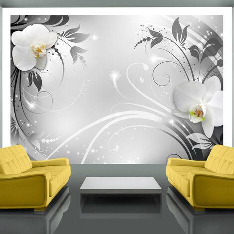 Fotomural - Orquídeas en la plata