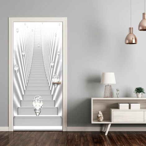 Fotomural para puerta - Photo wallpaper - White stairs and jewels I