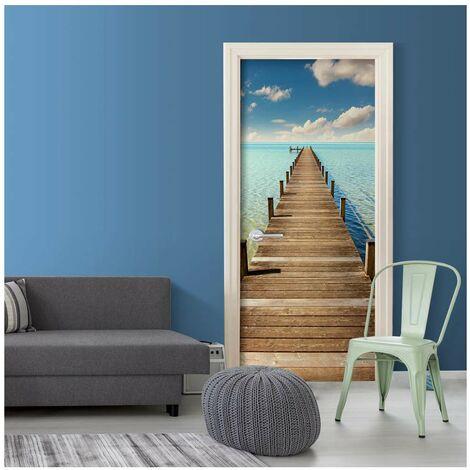 Fotomural para puerta - Turquoise Harbour