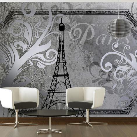 Fotomural Paris Vintage plata cm 300x210 Artgeist