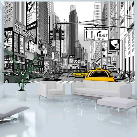 Fotomural - Taxis amarillos en Nueva York -