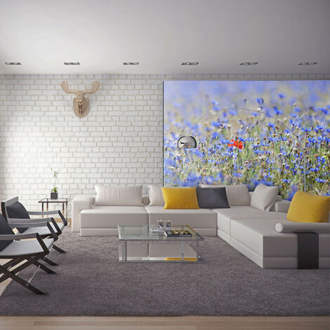 Fotomural - Un prado color de cielo, azulejos - 250x193