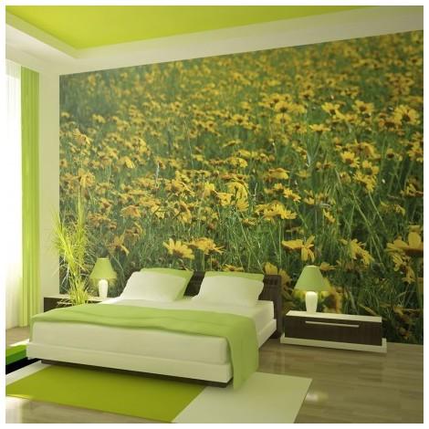 Fotomural Un Prado De Flores Amarillas