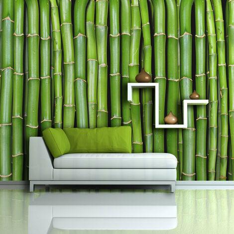 Fotomural - Una pared de bambú - 450x270