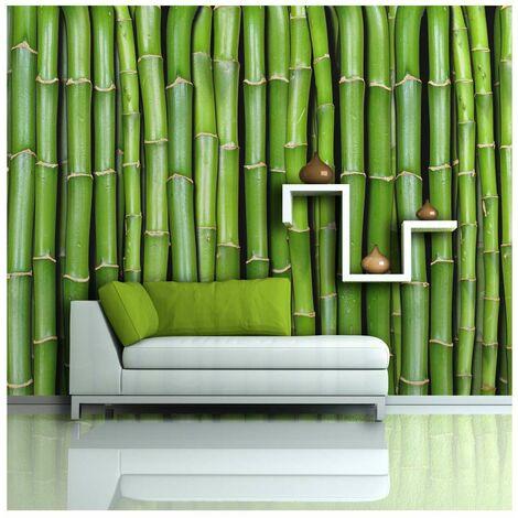 Fotomural - Una pared de bambú