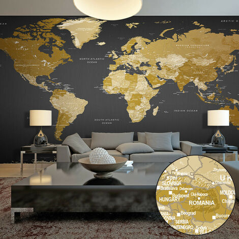 Fotomural XXL - World Map: Modern Geography II -