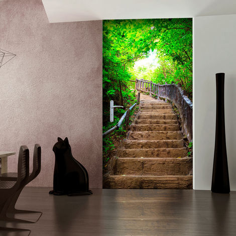 Fotomurale per porta - Photo wallpaper – Stairs from nature I100x210 cm
