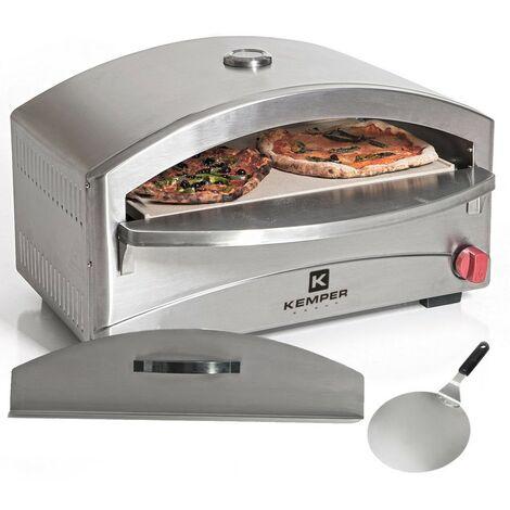 """main image of """"Four à pizza 4800W gaz KEMPER Inox Cuisson Pierre réfractaire 250- 400°C Max Allumage piezo Chauffe rapide spatule"""""""