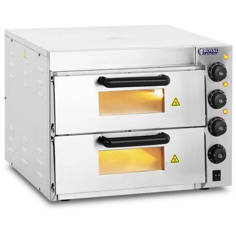 Four A Pizza Electrique Four Pizza Professionnel Pain 2 Chambres Chamotte 3000 W