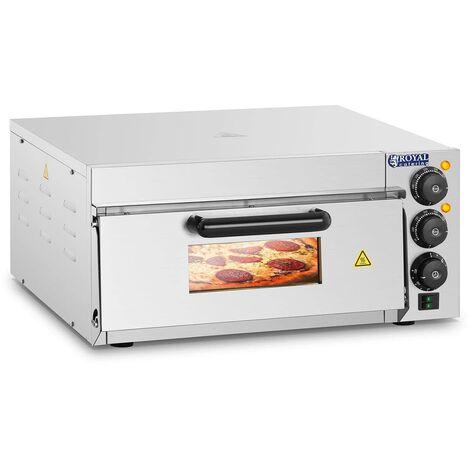 Four à pizza Électrique Inox 2000W 230V 350 °C 40X40X1 5Cm Royal Catering