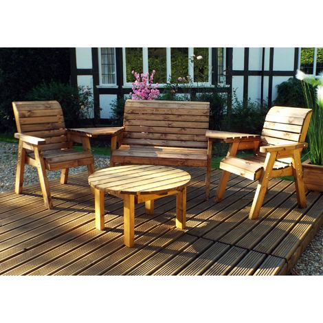 Four Seater Multi Set with Round Coffee Table HB116