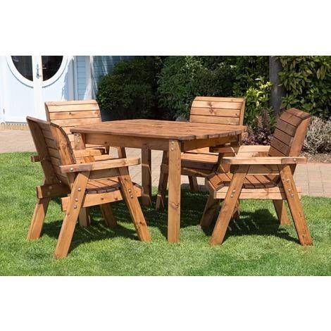 Four Seater Rectangular Table Set HB12