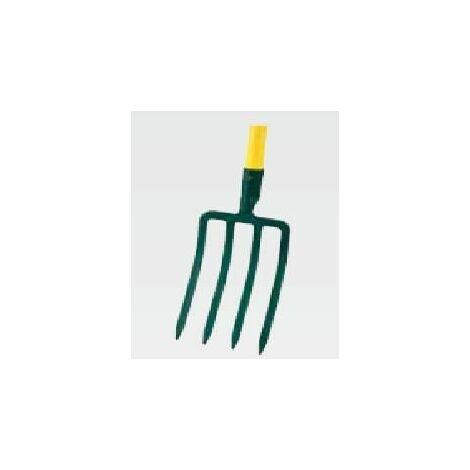 Fourche à bêcher à douille 4 dents - manche Novagrip en T 90cm