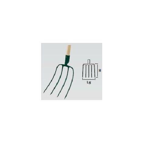 Fourche à fumier-douille - 4 dents - manche composite