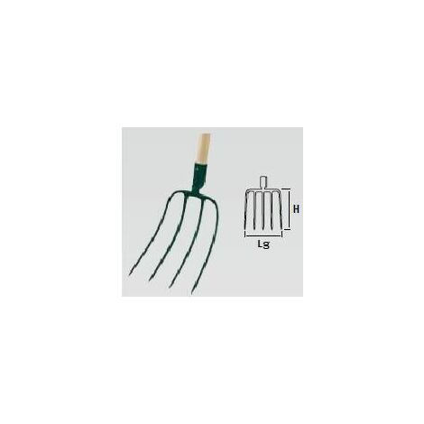 Largeur: 10 cm Acier forg/é et tremp/é Leborgne Serfouette /à vigne Panne et fourche Manche: 110 cm