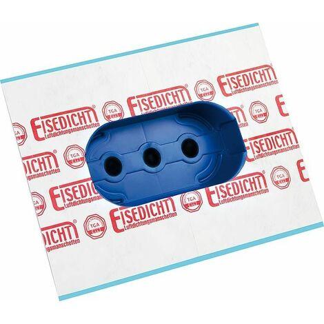 Fourreau prise etanche 5 prises, force adhesive Tyvek