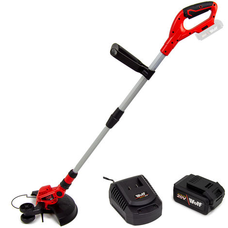 Fox 20V Cordless Grass Trimmer Lawn Edger with Battery & Charger