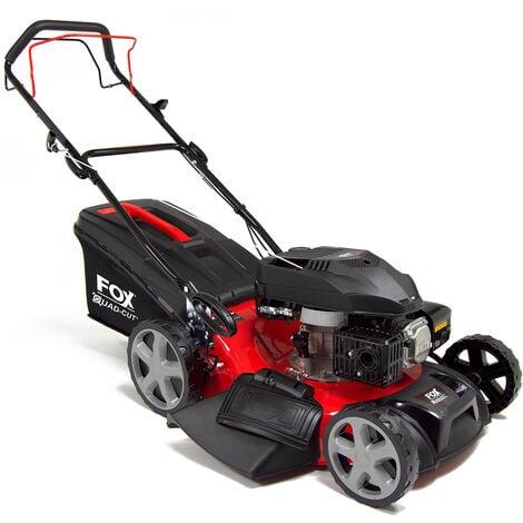 "Fox Quad-Cut 460 18"" Recoil Self Propelled Petrol Lawn Mower"