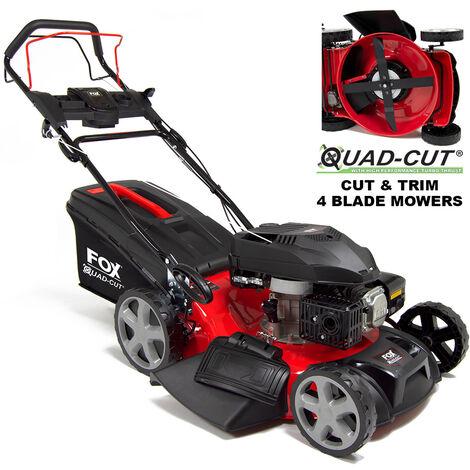 "Fox Quad-Cut 530 21"" Recoil Self Propelled Petrol Lawn Mower"