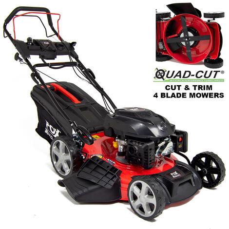 "Fox Quad-Cut 530E 21"" Electric Start Self Propelled Petrol Lawn Mower"