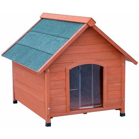 FoxHunter Medium Wooden Dog Kennel FH-WDK01 Natural