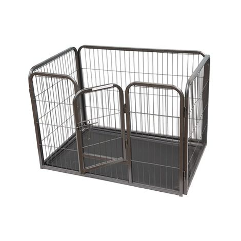 FoxHunter Pet Play Pen FH-MPP-02M Hammered Silver