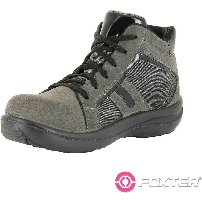 Foxter Chaussures de sécurité | Femmes | Montantes | Baskets de Travail | Légères et Respirantes | Sans métal | S3 SRC