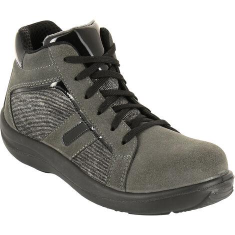 Foxter - Chaussures de sécurité   Femmes   Montantes   Baskets de Travail   Légères et Respirantes   Sans métal   S3 SRC