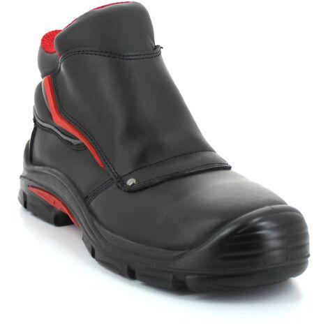 """main image of """"Foxter - Chaussures de sécurité   Hommes   Basses   Imperméable   Cuir Noir   S3 SRC"""""""