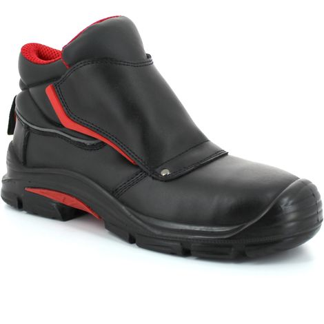 Foxter - Chaussures de sécurité | Hommes | Basses | Imperméable | Cuir Noir | S3 SRC