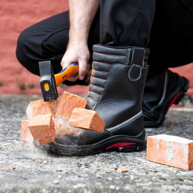 Métal De SécuritéHommes Imperméable Et S3 Montantes Légères Foxter Noir Chaussures Cuir Ci Respirantes Sans Src Ygb6f7vy