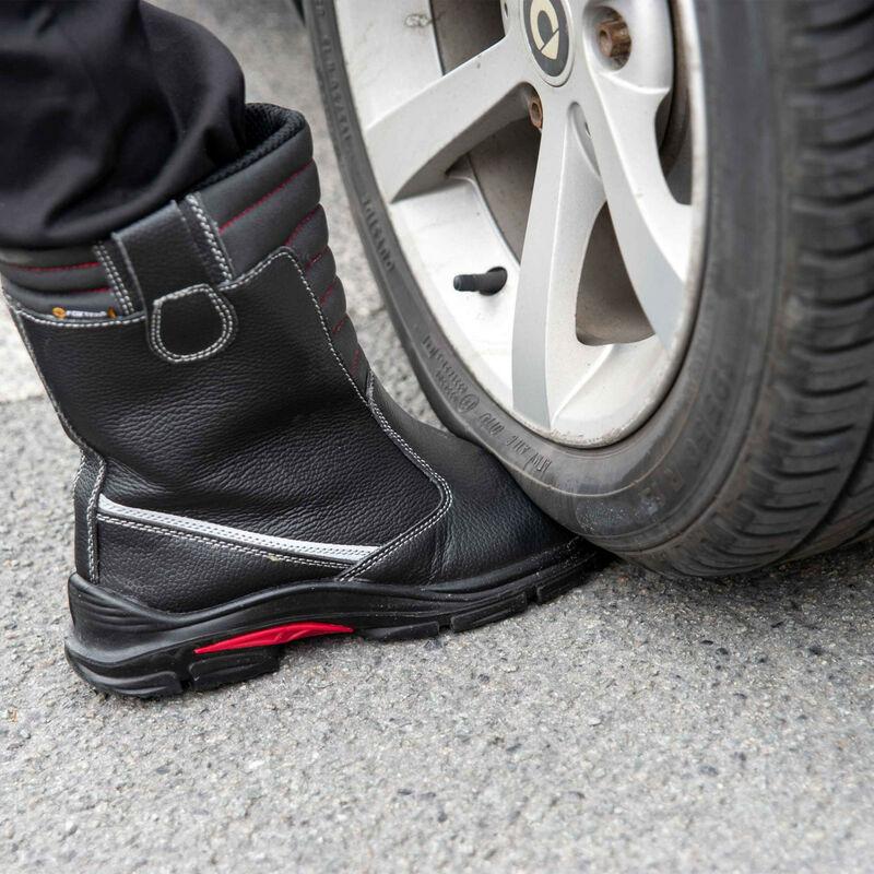 Foxter Chaussures de sécurité   Hommes   Montantes   Légères et Respirantes   Imperméable   Sans métal   Cuir Noir   S3 SRC CI