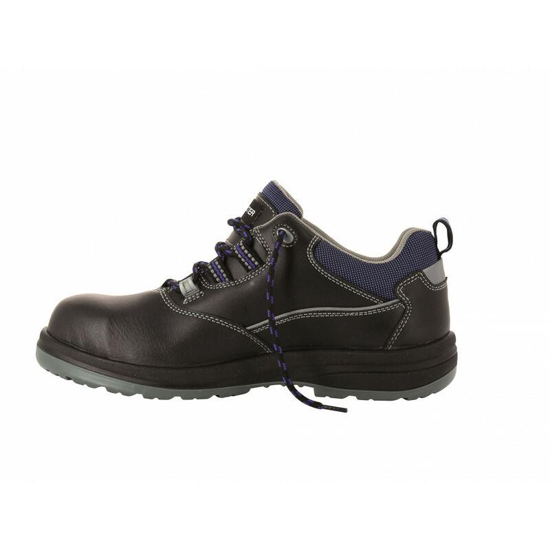 design de qualité 784d7 6ee7e Foxter - Chaussures de sécurité | Mixte : Hommes et Femmes | Basses |  Respirantes | Imperméable | Sans métal | Cuir Noir | S3 SRC