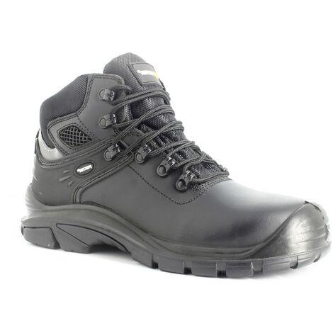 Foxter - Chaussures de sécurité   Mixte : Hommes et Femmes   Montantes   Imperméable   Cuir Noir   S3 SRC HRO